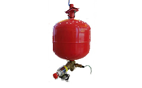 Hanging heptafluoropropane fire extinguishing device